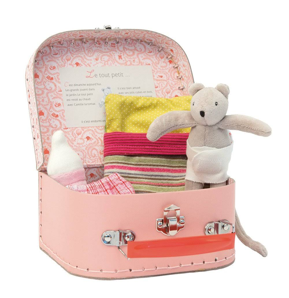 Moulin Roty La Grande Famille Baby Suitcase Playset