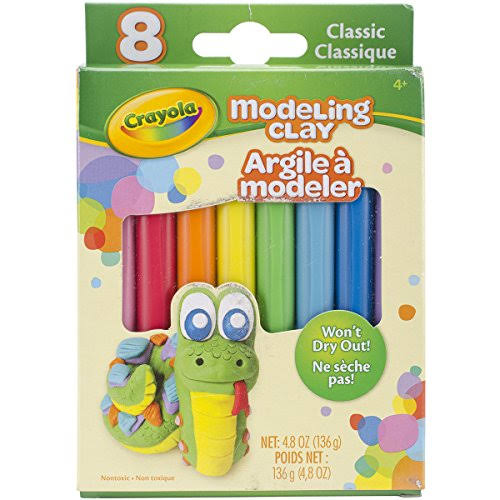 Crayola Classic Modelling Clay - 8 Stick