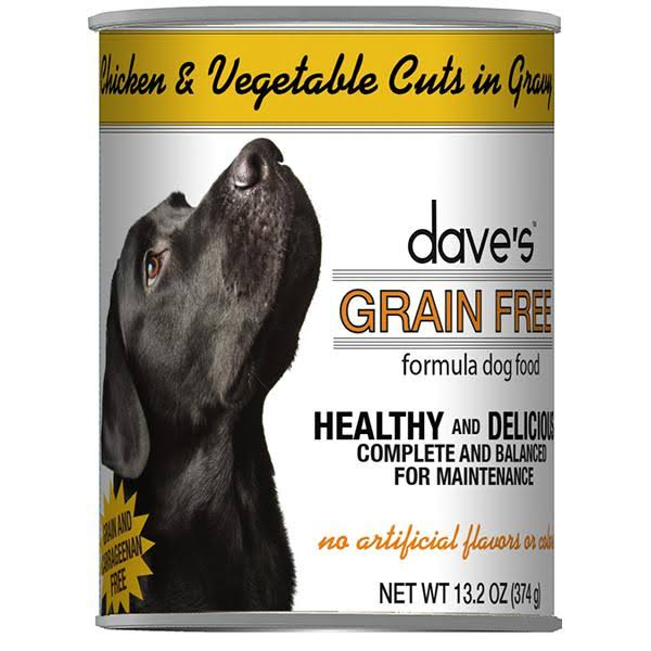 Chicken & Vegetable Cuts in Gravy Grain-Free Wet Canned Adult Dog Food