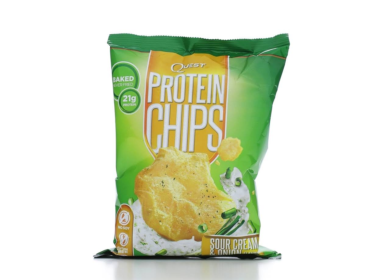 Quest Protein Chips, Sour Cream & Onion Flavor - 1.125 oz