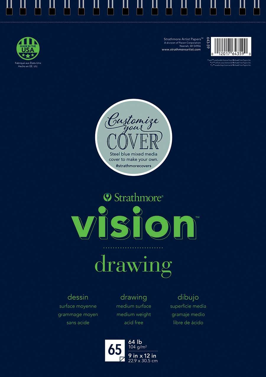 "Strathmore Artist Wire Bound Vision Drawing Pad - 9"" X 12"", 65 Sheet"