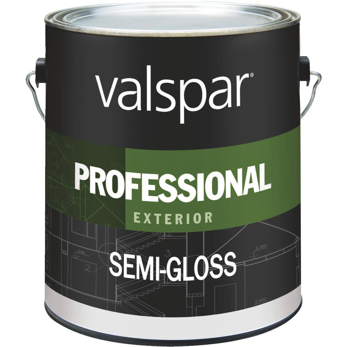 Valspar Professional Semi-Gloss Exterior Latex Paint
