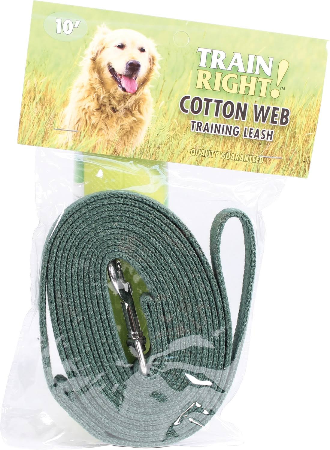 "Coastal Pet Coastal Pet Products DCP510GRN Cotton Web Collar Lead for Pets - 5/8"" x 10', Green"