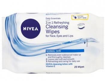 Nivea Daily Essentials 3in1 Gentle Cleansing Wipes - Dry Skin, 20 Wipes