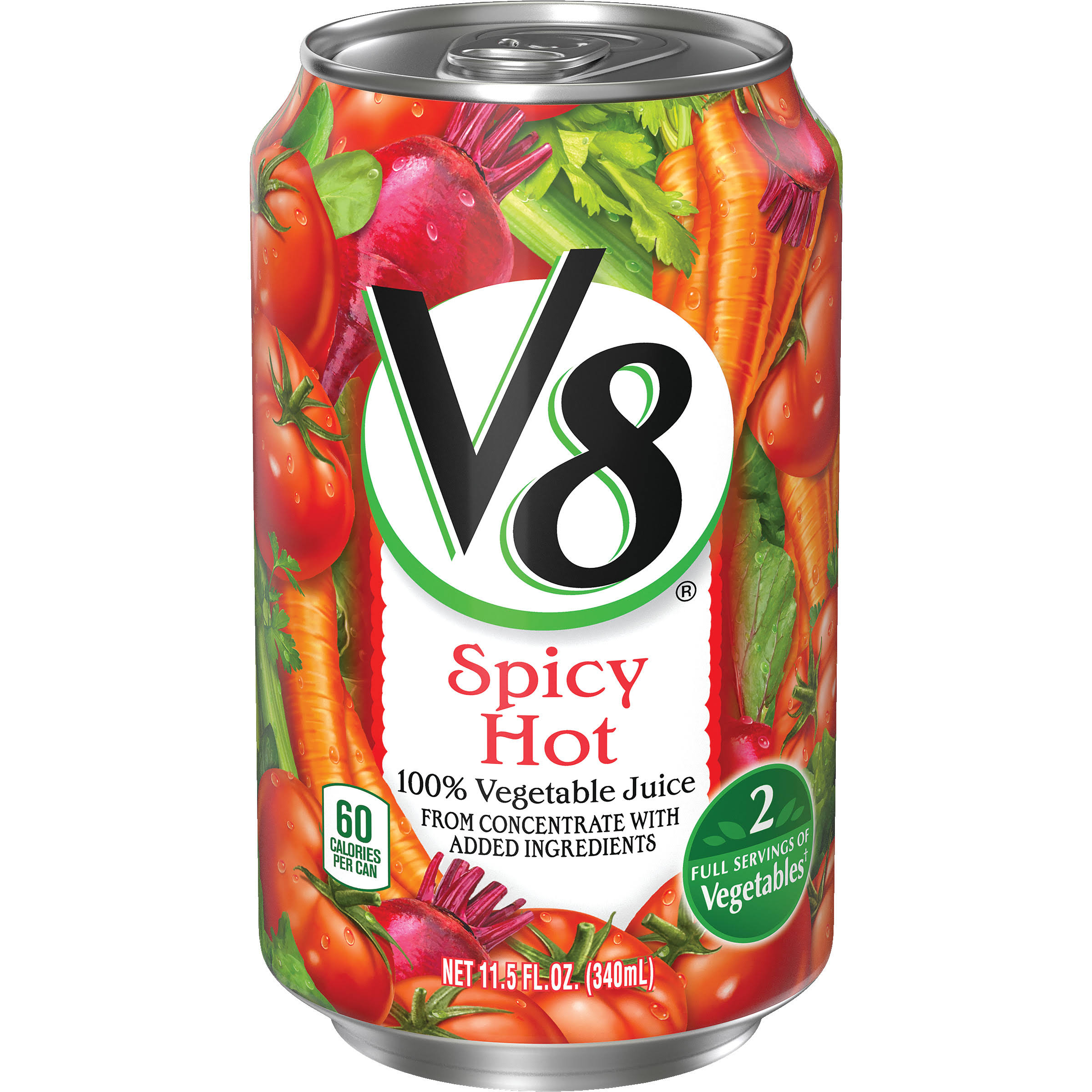 V8 Vegetable Juice - Spicy Hot, 340ml