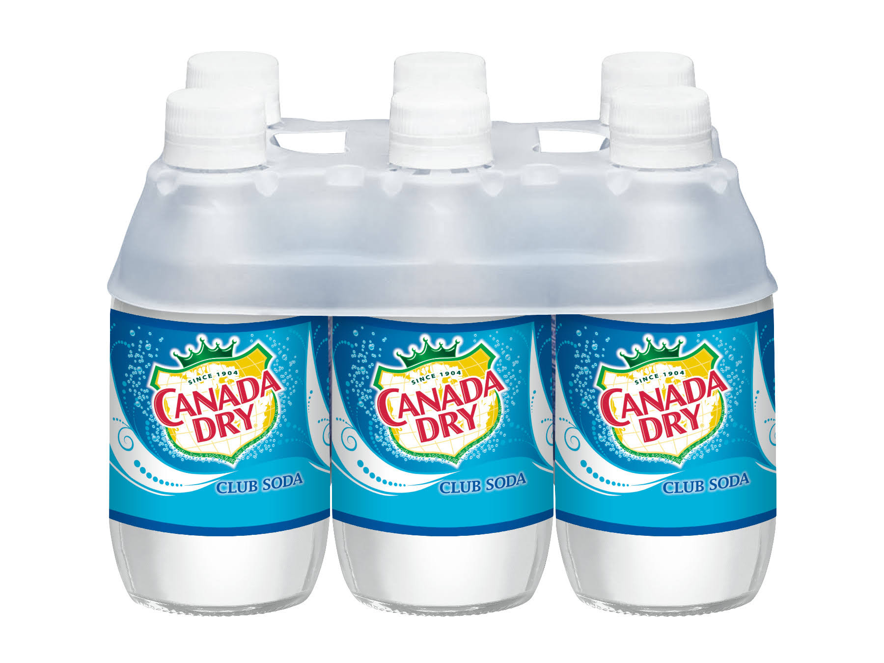 Canada Dry Club Soda, 6-Pack - 6 pack, 10 fl oz bottle