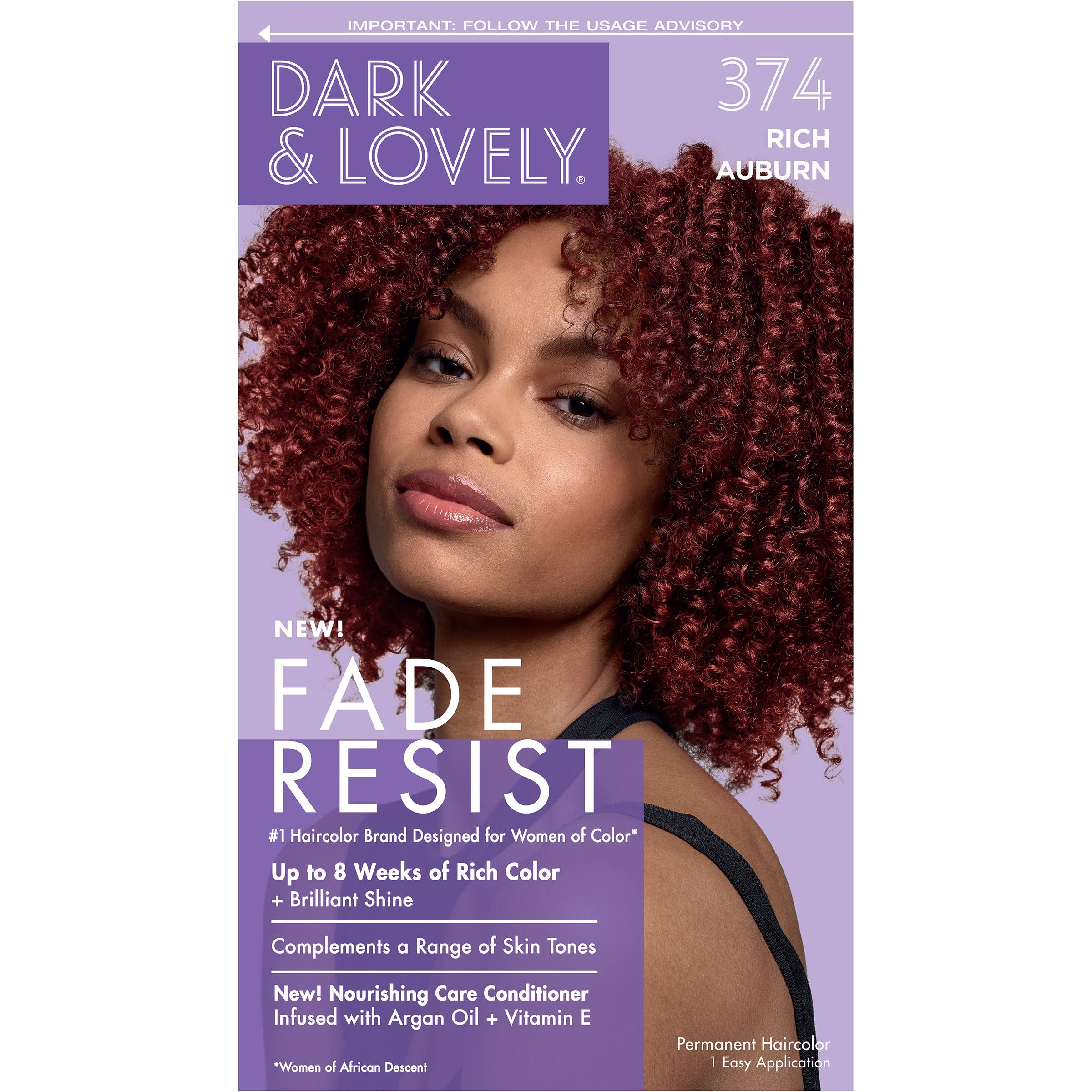 Softsheen-carson Dark and Lovely Fade Resist Rich Conditioning Color, 374 Rich Auburn Kit