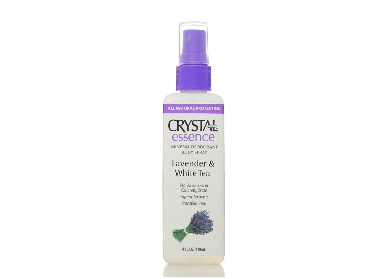 Crystal Essence Mineral Deodorant Body Spray - Lavender & White Tea, 4oz