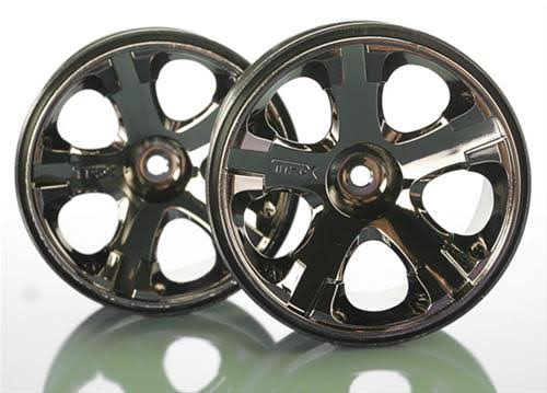 Traxxas All-Star Black Chrome Wheels - Nitro Rear / Electric Front, 2.8in, 1 Pair