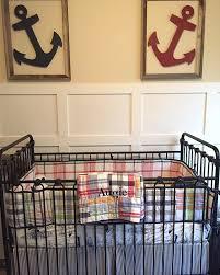 Bratt Decor Crib Skirt ahoy it u0027s a boy this nautical nursery has everything a future