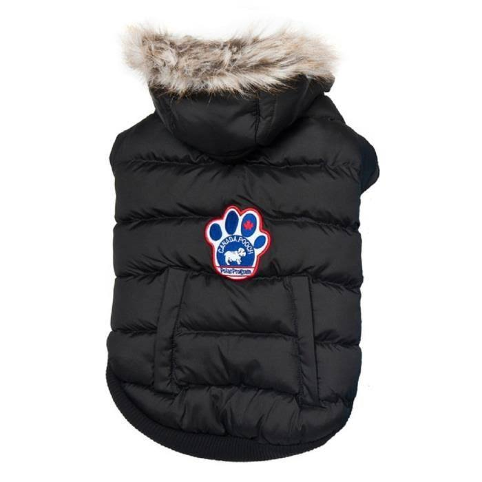 Canada Pooch North Pole Premium Dog Parka, Black, 22