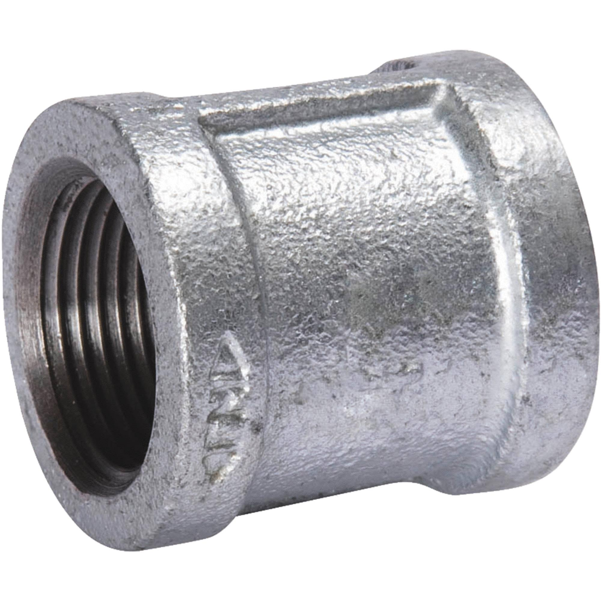 B and K Malleable Galvanized Iron Coupling - 1 1/4""