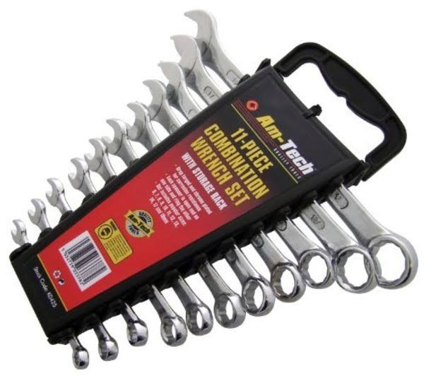 Am Tech Combination Spanner Set - with Rack, 11pcs