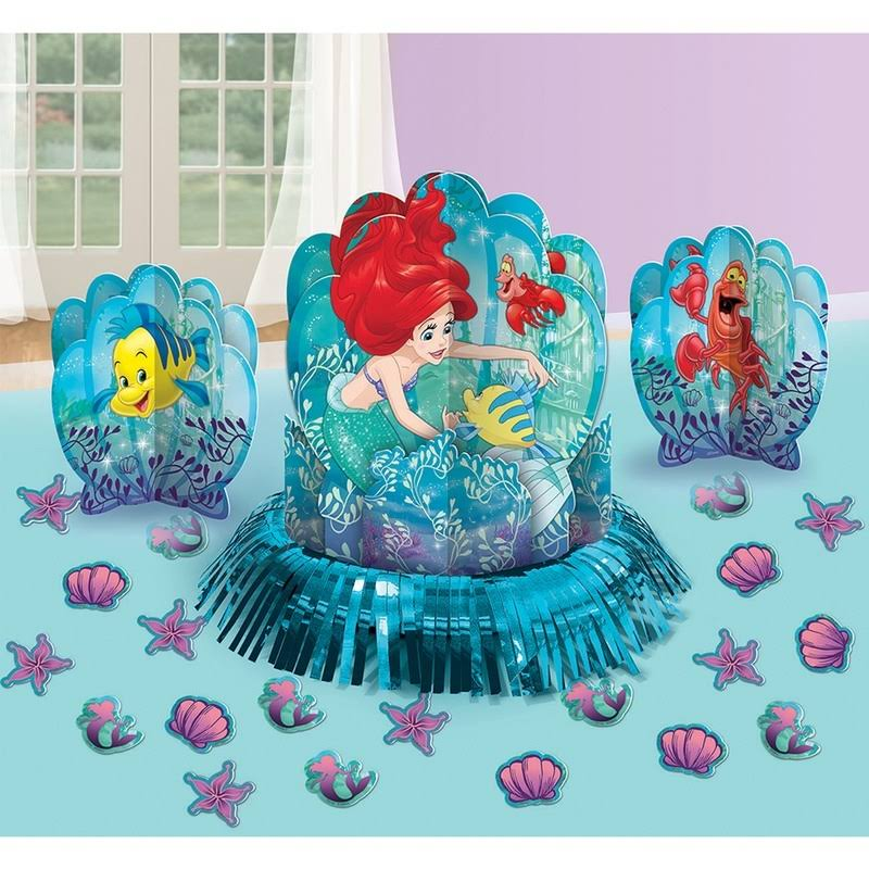 Disney Little Mermaid Party Table Decorating Kit