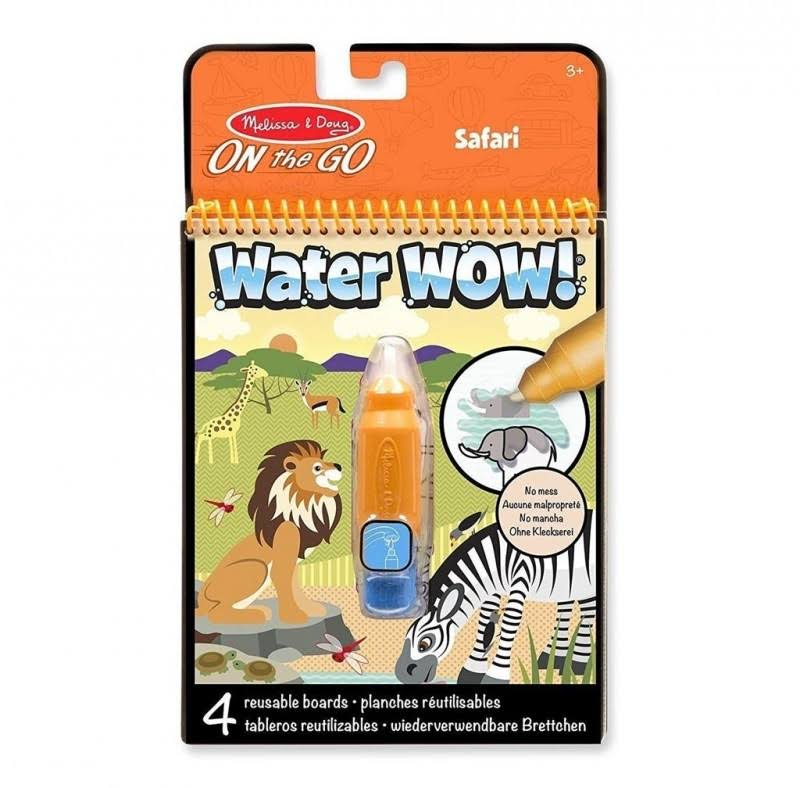 Melissa & Doug On The Go Water Wow Travel Activity Book - Safari