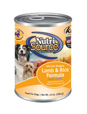 Nutrisource Canned Dog Food - Lamb and Rice, 13oz