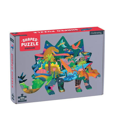 Mudpuppy Shaped Puzzle - Dinosaurs, 300pcs