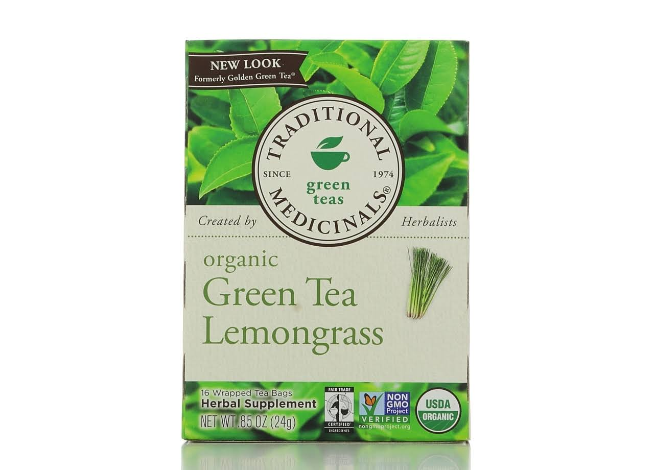 Traditional Medicinals Organic Green Tea Lemongrass Tea - 16 Tea Bags