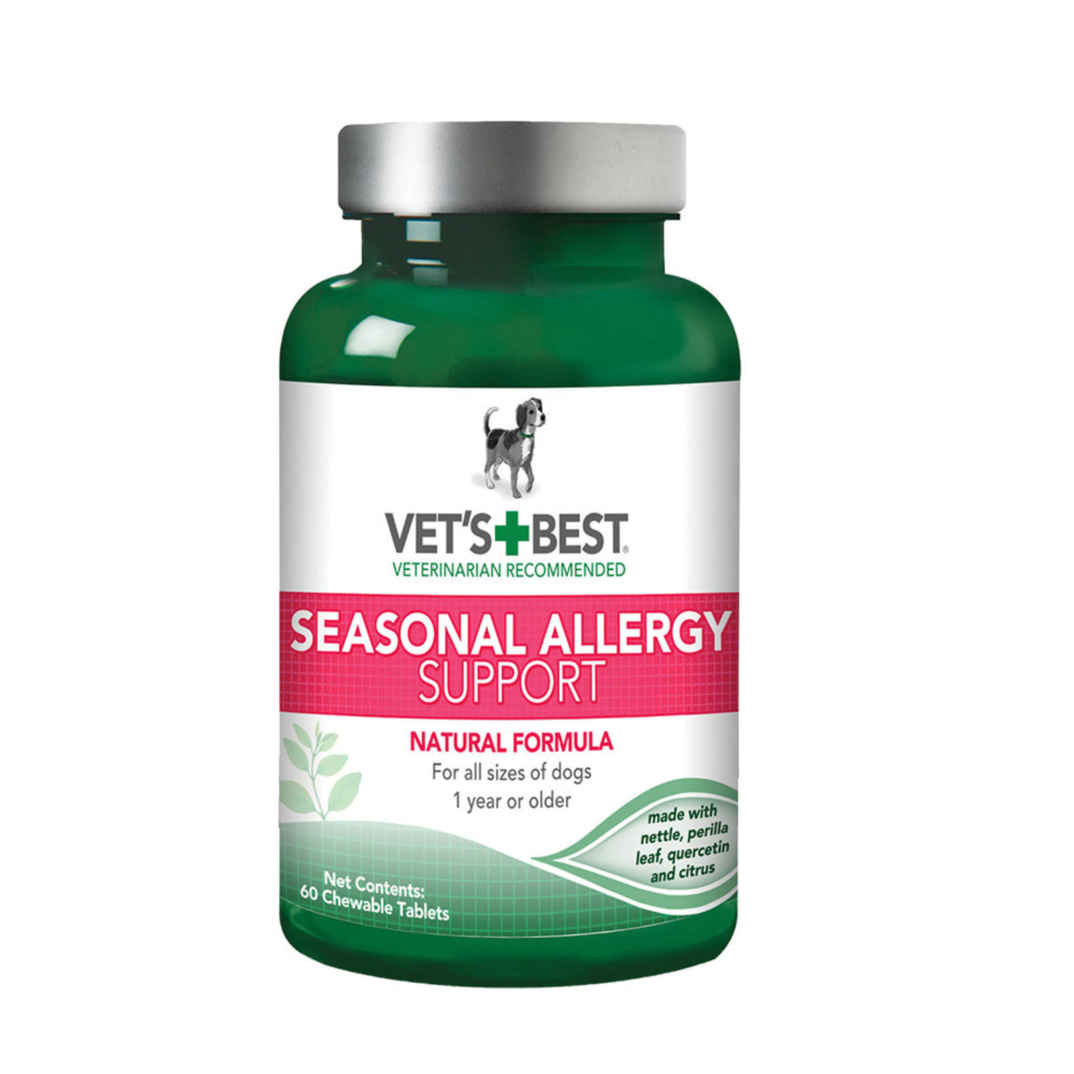 Vet's Best Seasonal Allergy Support Dog Supplement - 60 Tablets