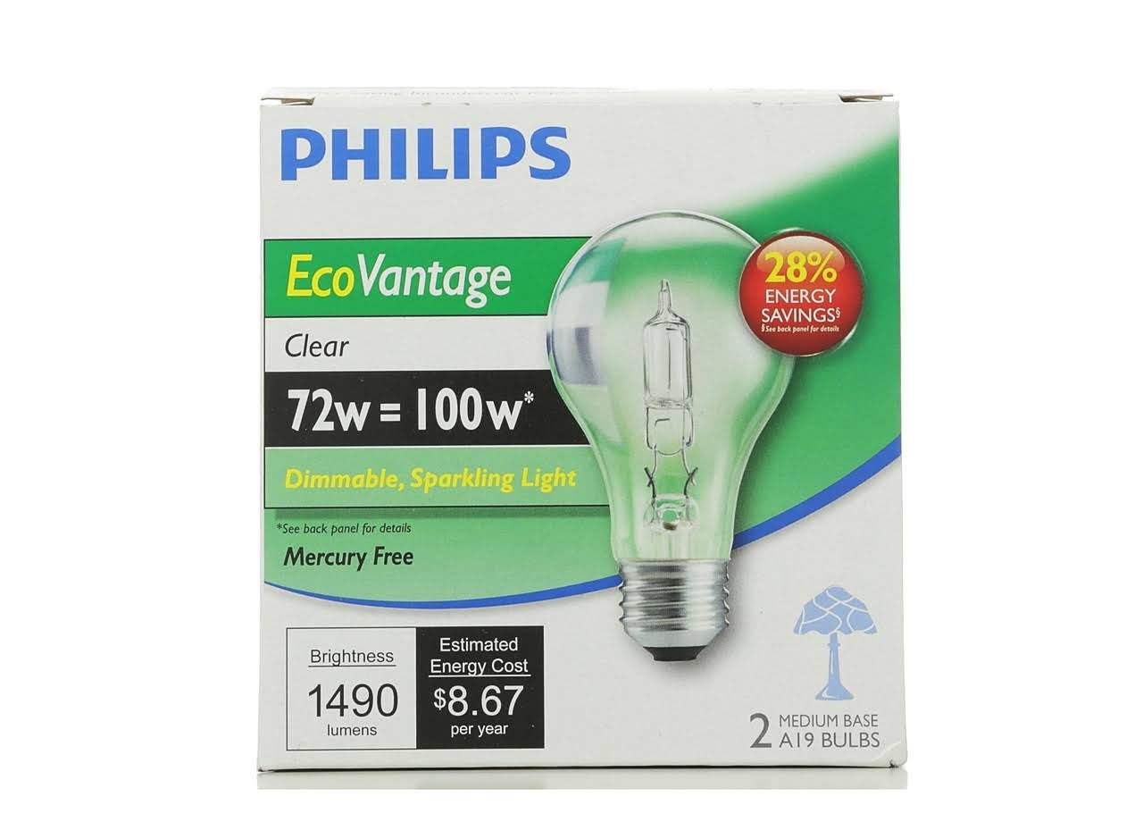 Philips 429241 Halogen Bulbs - Clear, 1490 Lumens, 72w Equivalent 100w