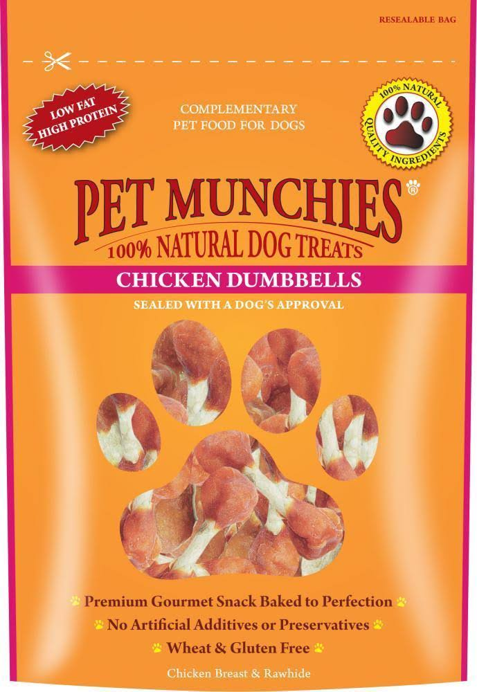 Pet Munchies Natural Dog Treats Chicken Dumbbells » Chicken Dumbbells » 80g Pouch