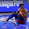 Sixers' Joel Embiid Discusses Difficulties of Playing With a Knee Brace