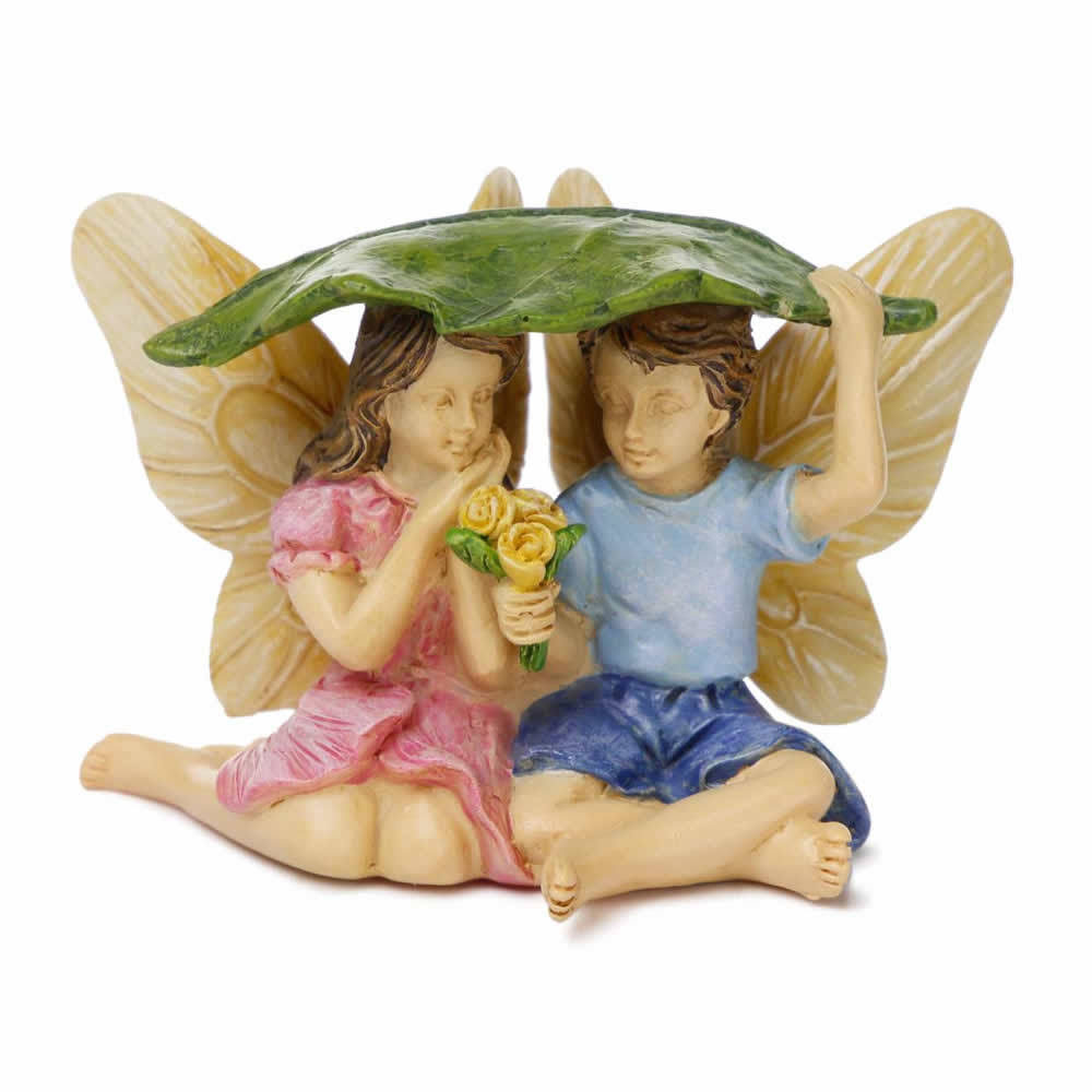 Marshall Home and Garden Miniature Fairy Garden Figurine - Caught in the Rain, 2""