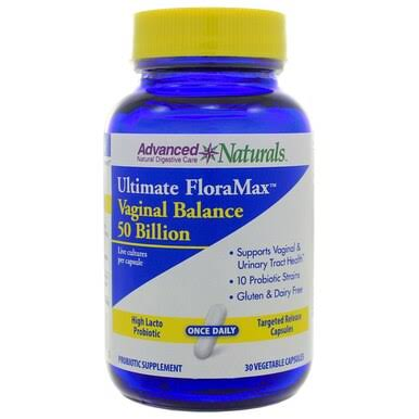 Advanced Naturals Ultimate Floramax Vaginal Balance 50 Billion Dietary Supplement - 30ct