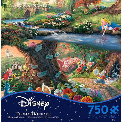 Ceaco Thomas Kinkade Disney The Dreams Collection Jigsaw Puzzle - Alice in Wonderland, x750