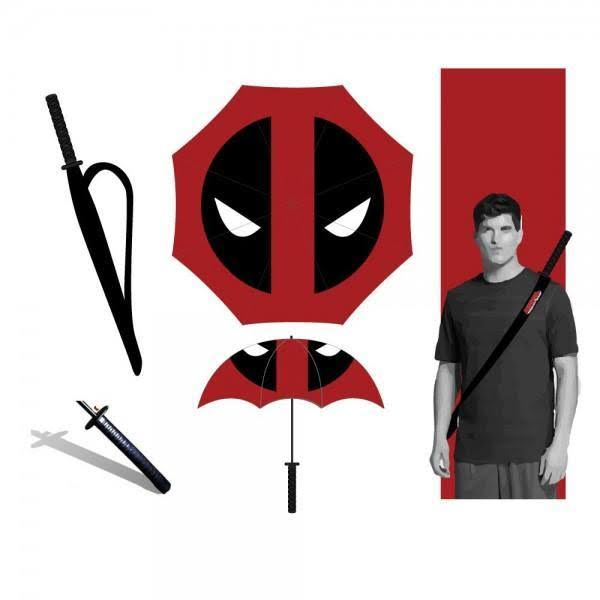 Bioworld Marvel Katana Umbrella - Deadpool