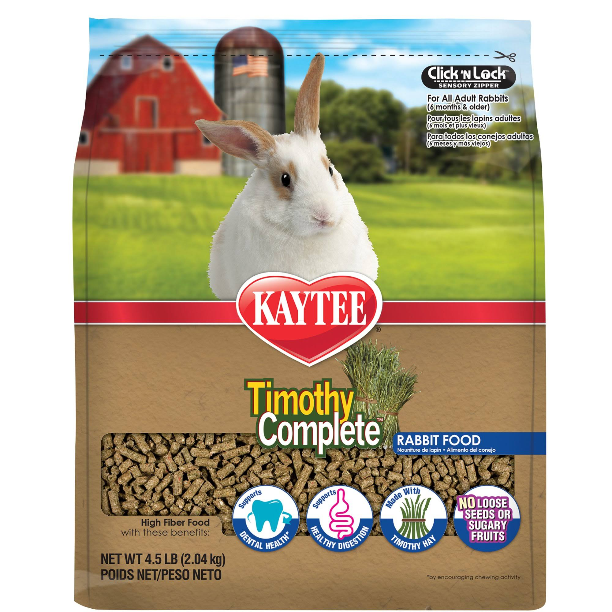 Kaytee Products Timothy Complete Rabbit Food - 9.5lbs
