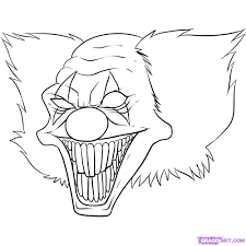 Evil Clown Pumpkin Stencils by Simple Things To Draw How Cool Your Drawing On How To Draw A