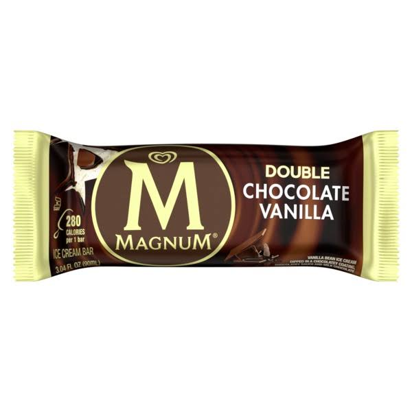 Magnum Ice Cream Bar Double Chocolate Vanilla