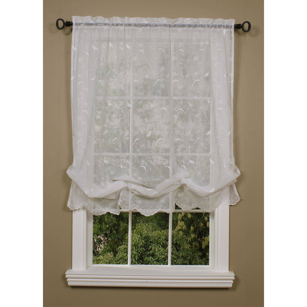 Habitat Hathaway Balloon Curtain, White, 54 x 63""