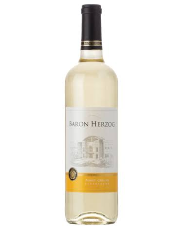 Baron Herzog Pinot Grigio White Wine - California, USA