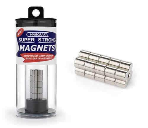 "Magcraft Rare Earth Rod Magnets - 1/4"" x 1/4"", 20ct"