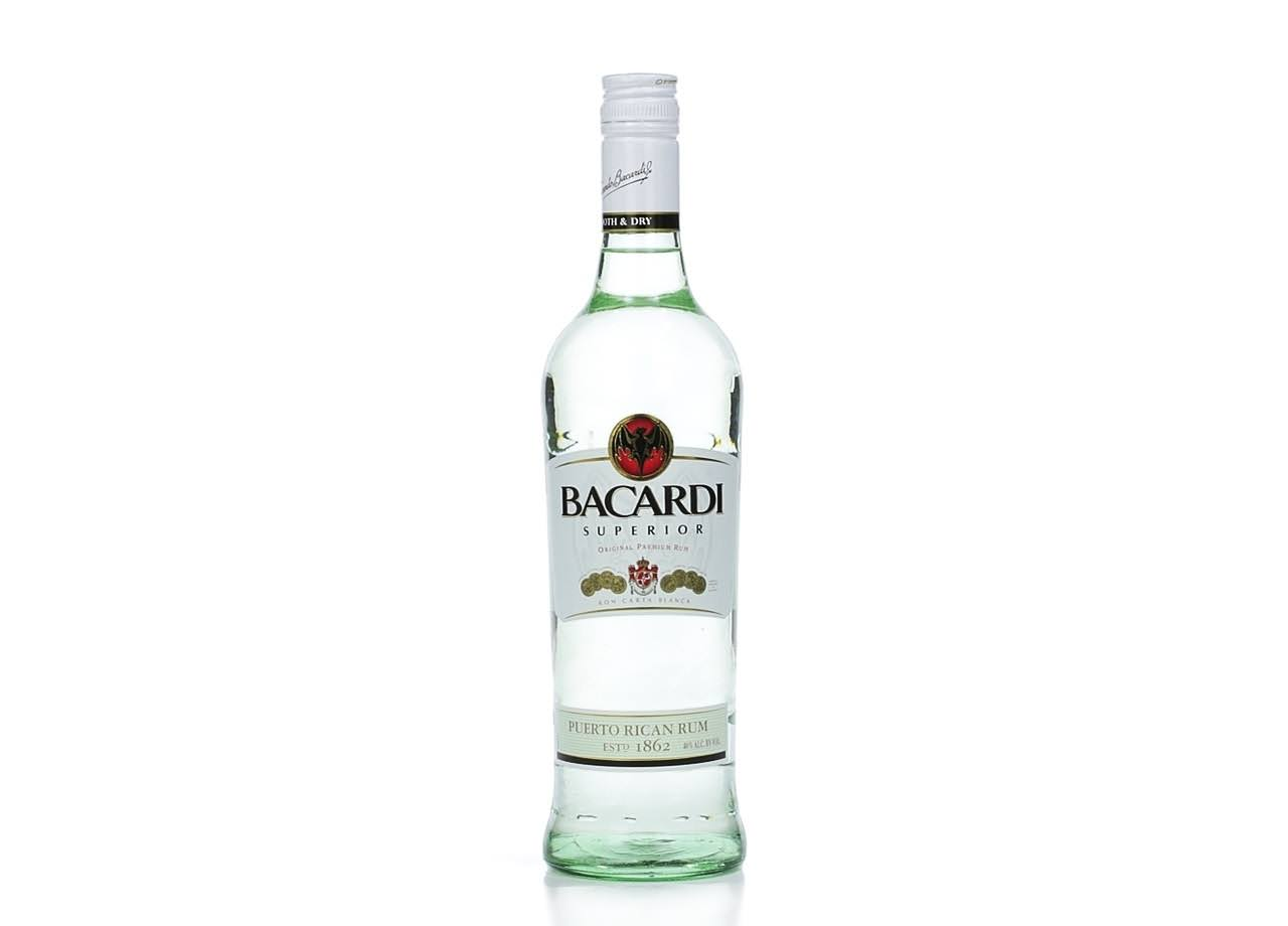 Bacardi Superior Rum, White, Grapefruit - 2 bottles