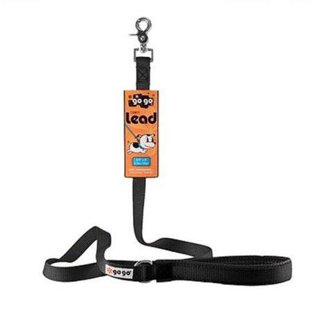 Gogo Comfy Nylon Leash - Black, Small