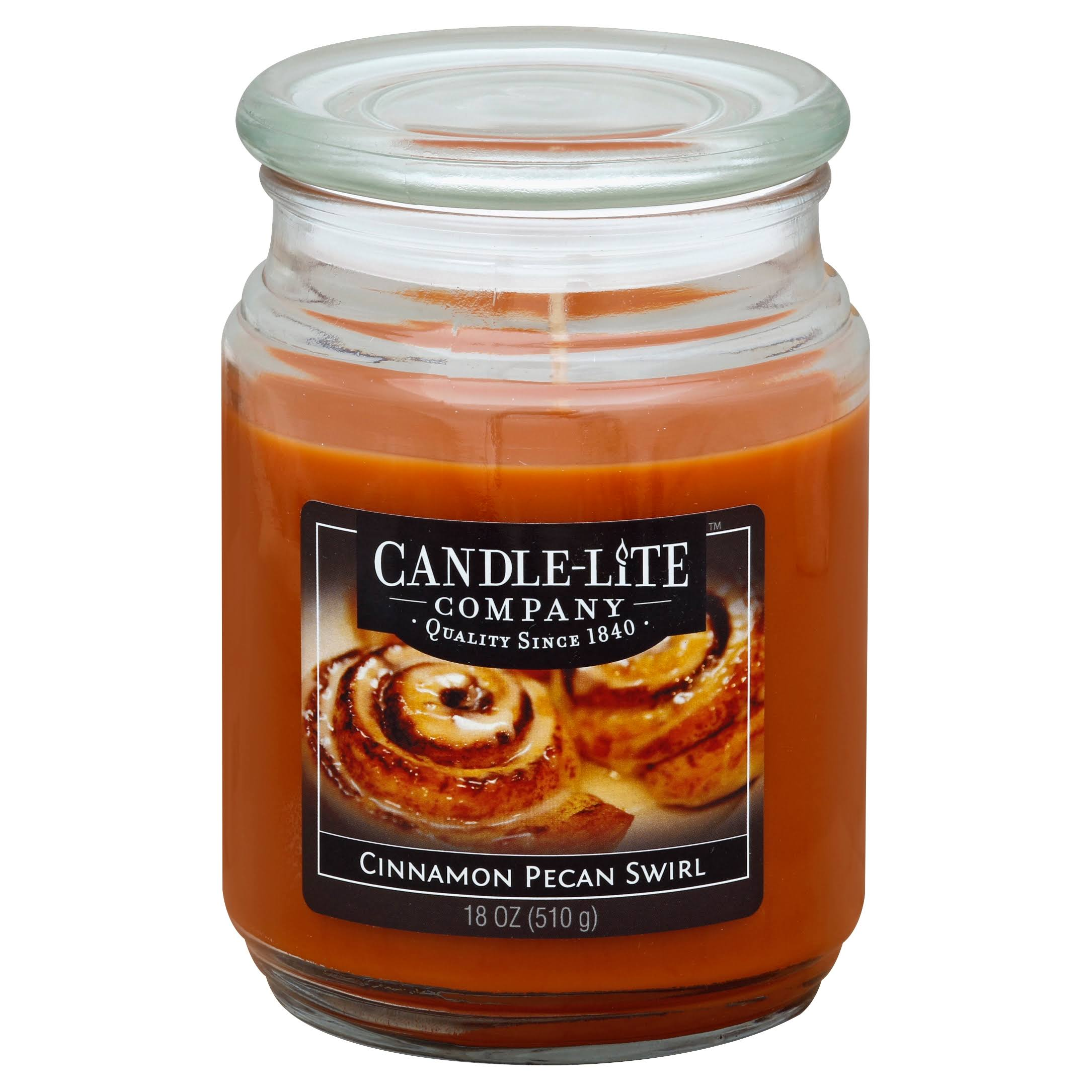 Candle lite 3297549 Scented Terrace Jar Candle - 18oz, Cinnamon and Pecan Swirl