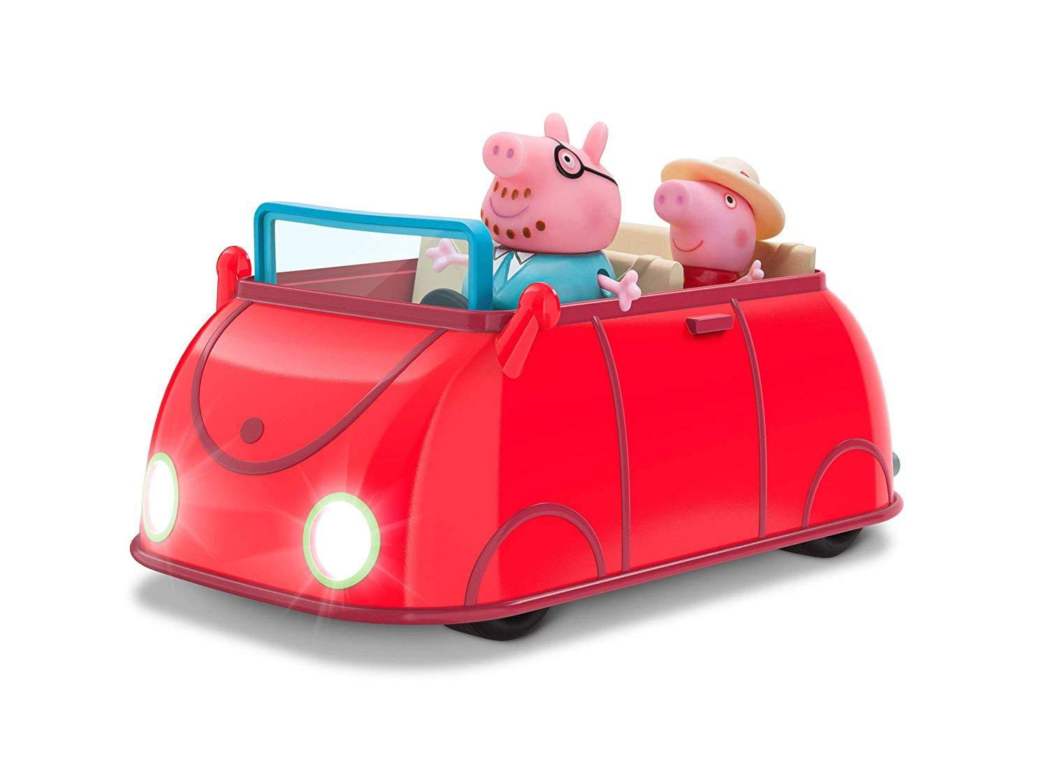 Peppa Pig Lights & Sounds Family Car, Red