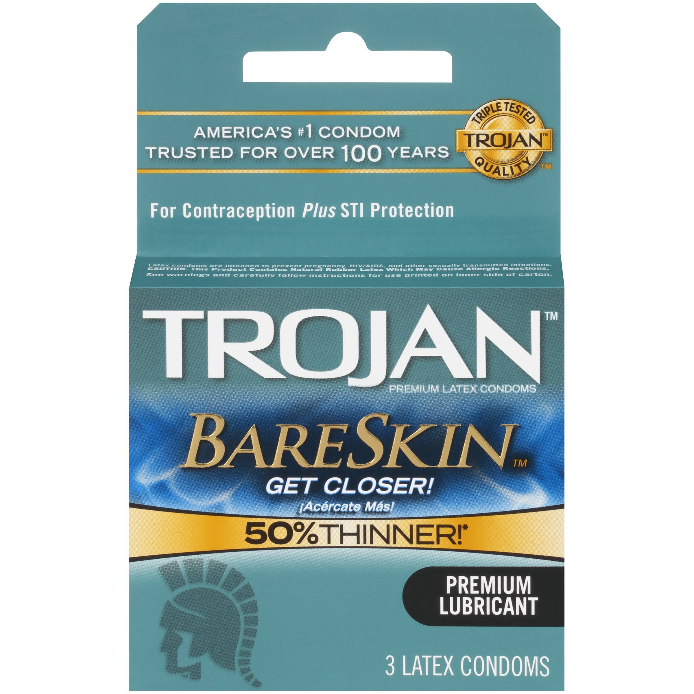 Trojan Bareskin Condoms - x3