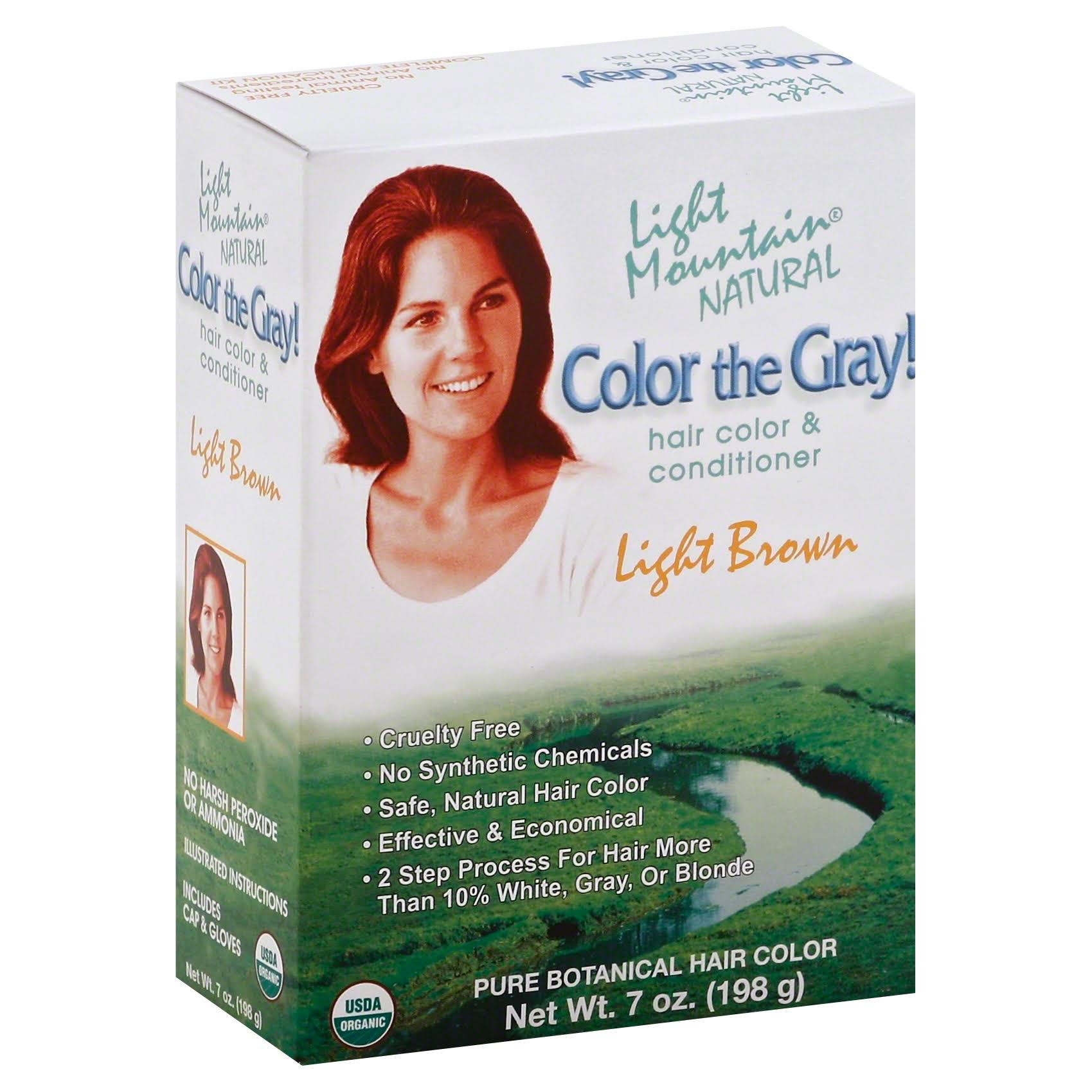 Light Mountain Natural Color The Gray! Hair Color & Conditioner - Light Brown