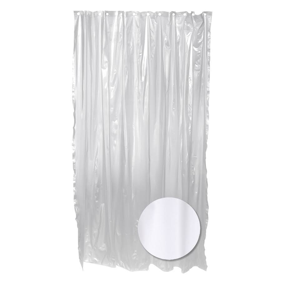 "Zenna Home Lightweight Vinyl Shower Liner - Frosty, 70"" W x 72""H"