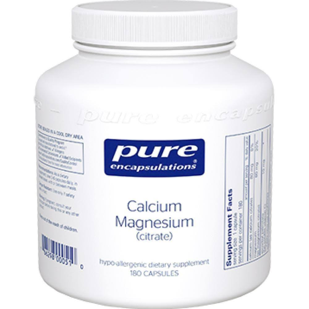 Pure Encapsulations Calcium Magnesium - 180 Vegetable Capsules