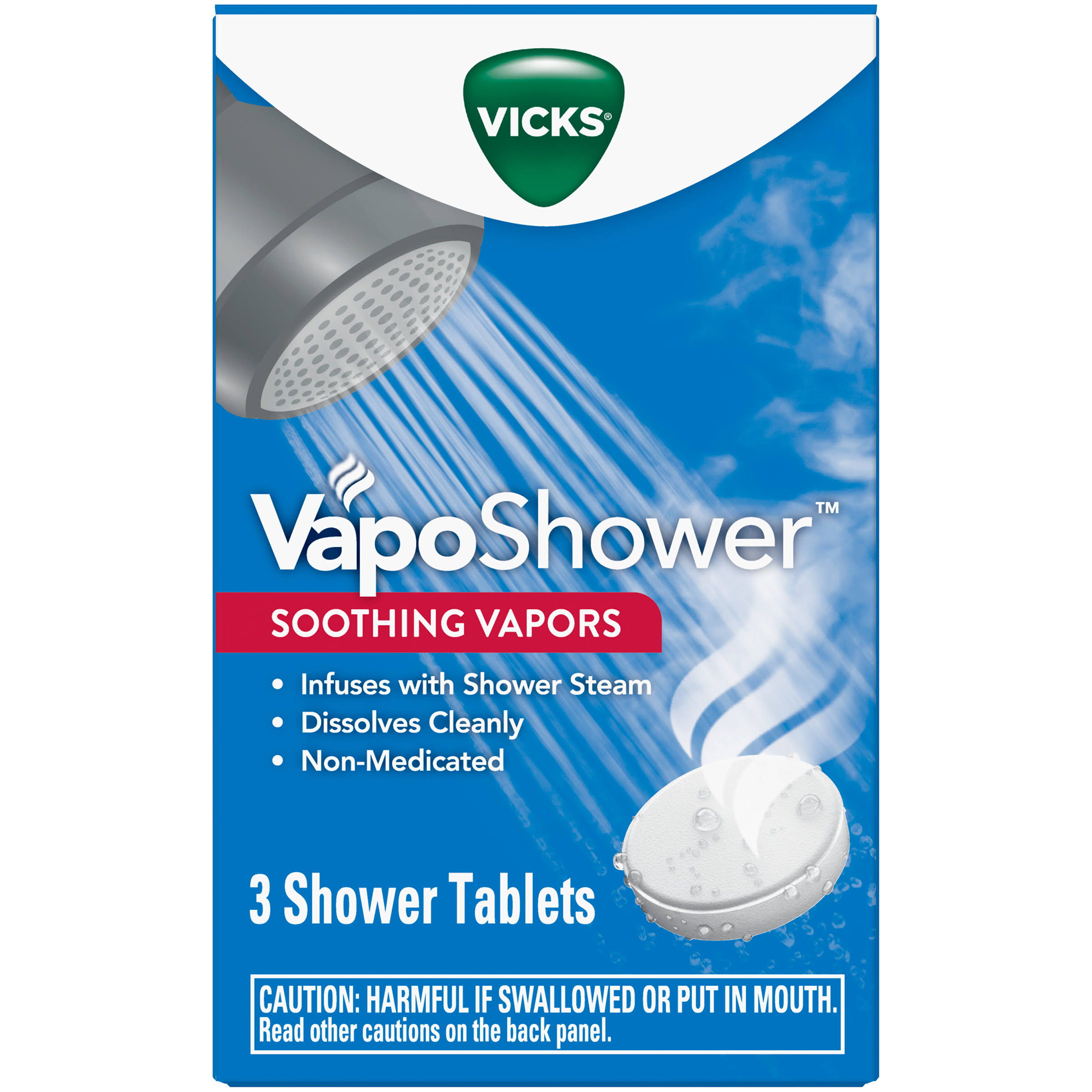 Vicks VapoShower Soothing Vapors, Tablets - 3 tablets