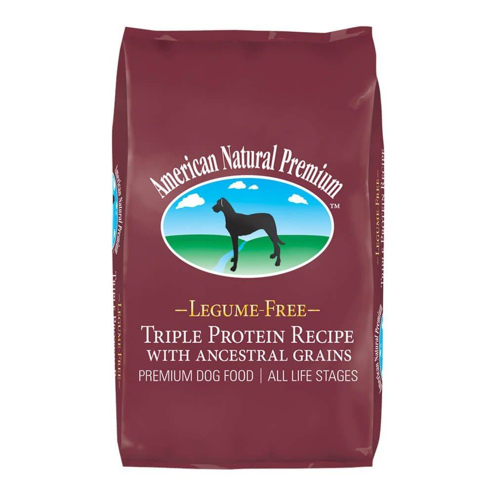 American Natural Premium Triple Protein Recipe with Ancestral Grains Legume-Free Premium Dry Dog Food , 4-lb Bag