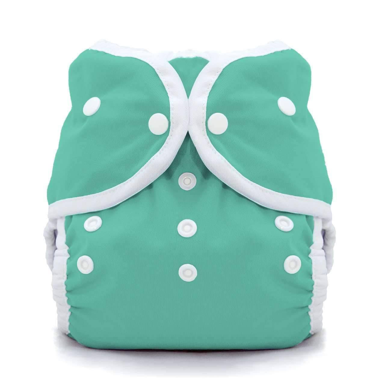 Thirsties Duo Wrap Snap Diaper Cover - Aqua, Size One