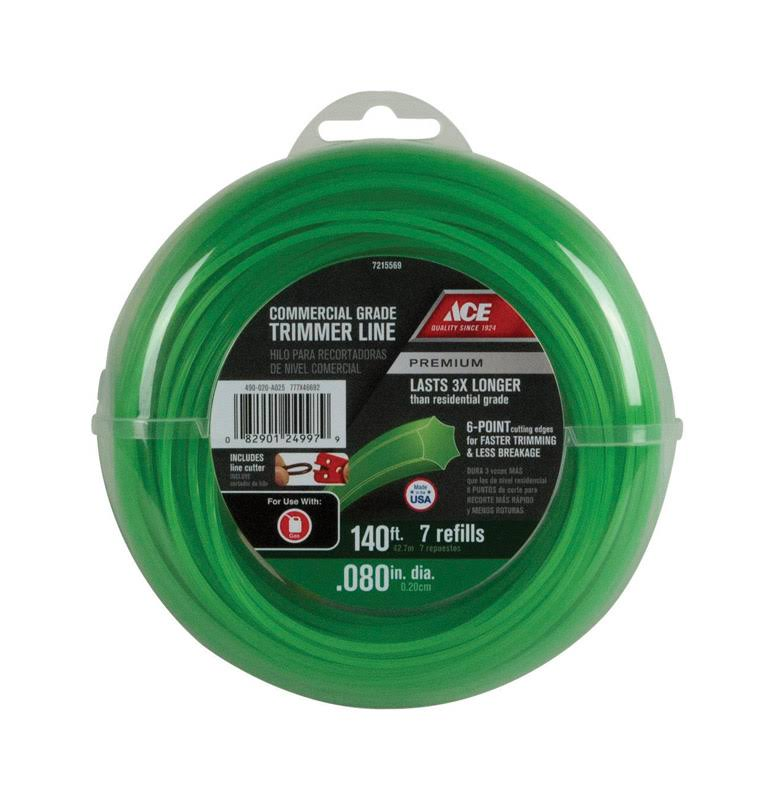 "Ace Commercial Trimmer Line - 0.080"" x 140ft"