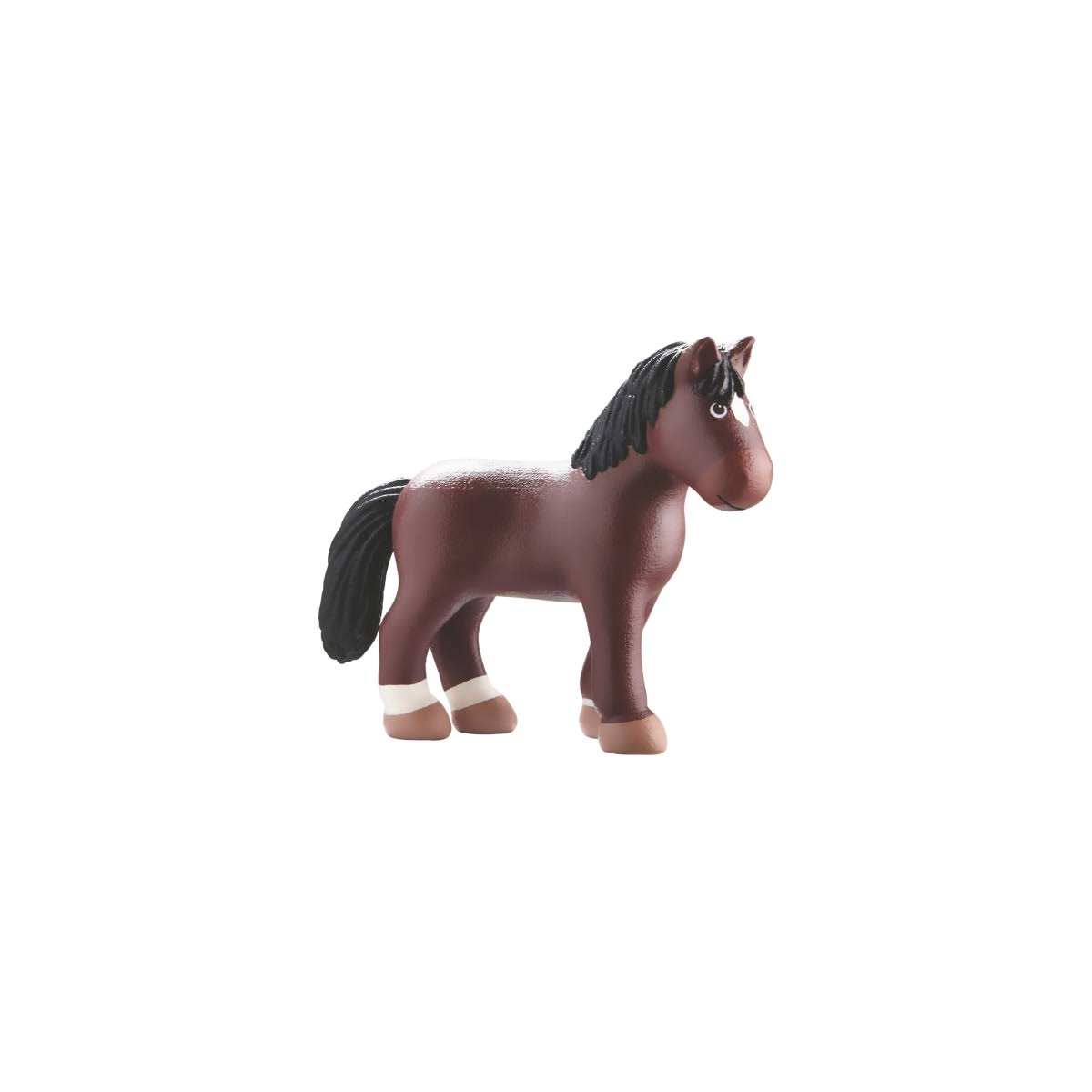 Haba Little Friends Kasper Horse Poseable Bendy Figure - Brown, 4.5""