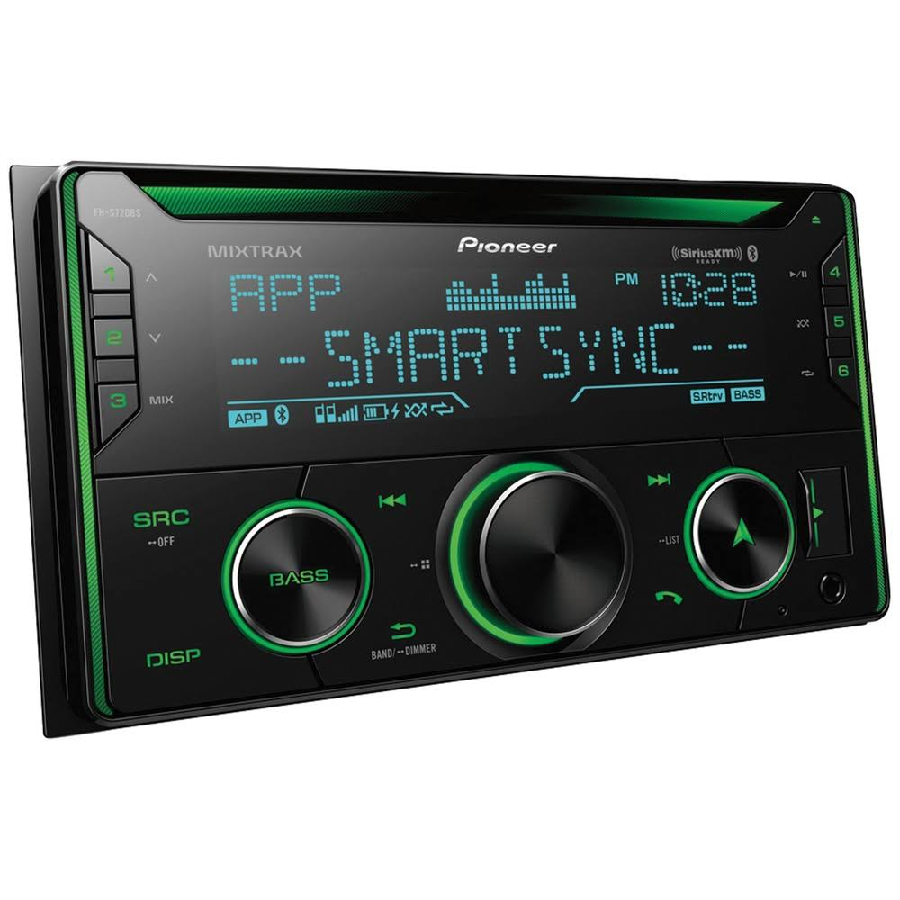 Pioneer Double DIN In Dash CD Receiver - with Bluetooth and SiriusXM Ready, 50W